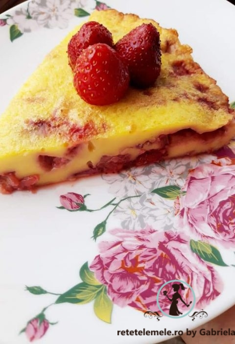 Clafoutis cu căpșuni 6