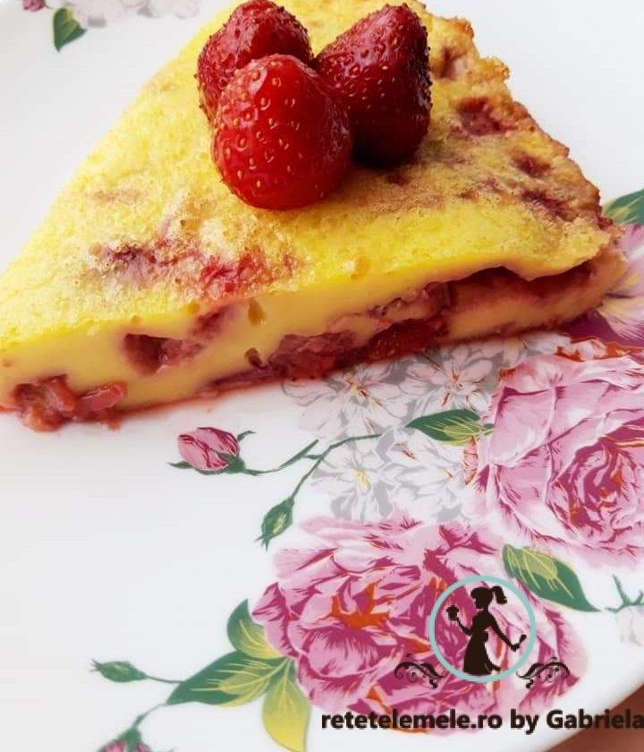 Clafoutis cu căpșuni 1