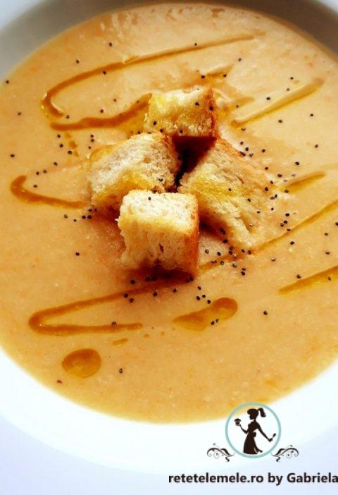 Supa cremă de legume și pui 😊 5