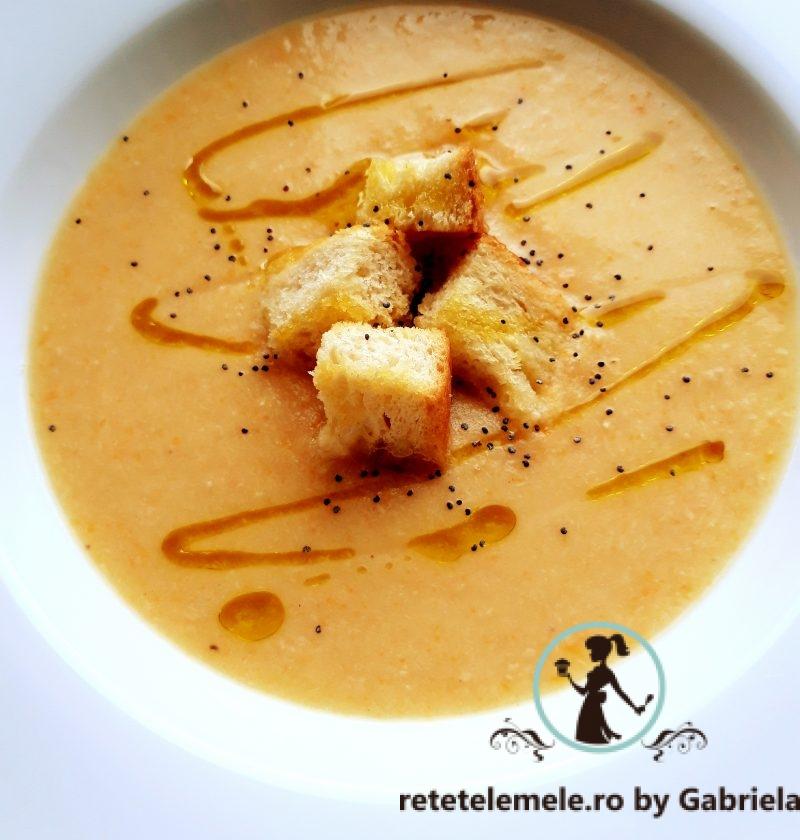 Supa cremă de legume și pui 😊 1