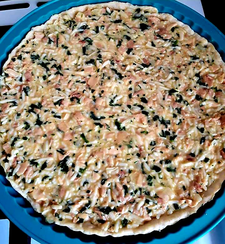 Tartă cu pui și mozzarella 2