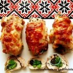 Brioșe cu piept de pui și mozzarella
