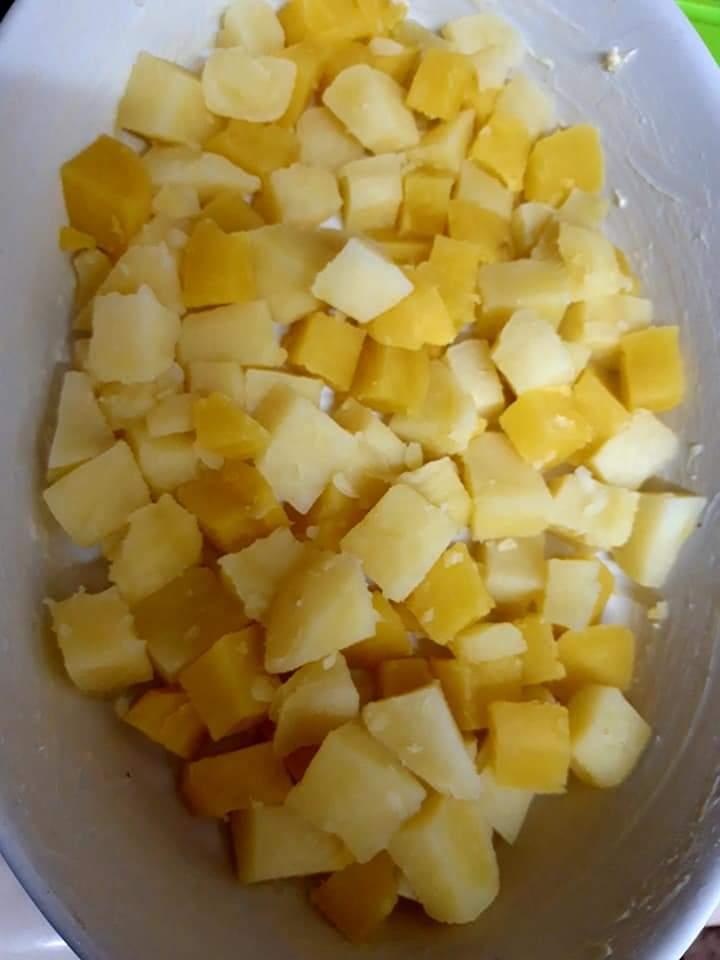Cartofi cu pui - gratinați 4
