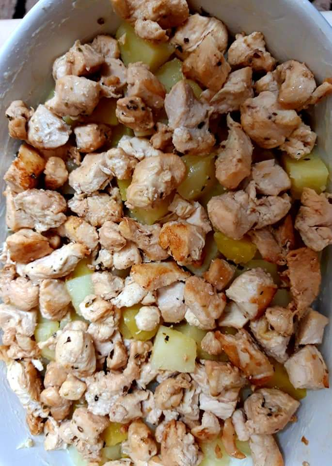 Cartofi cu pui - gratinați 5