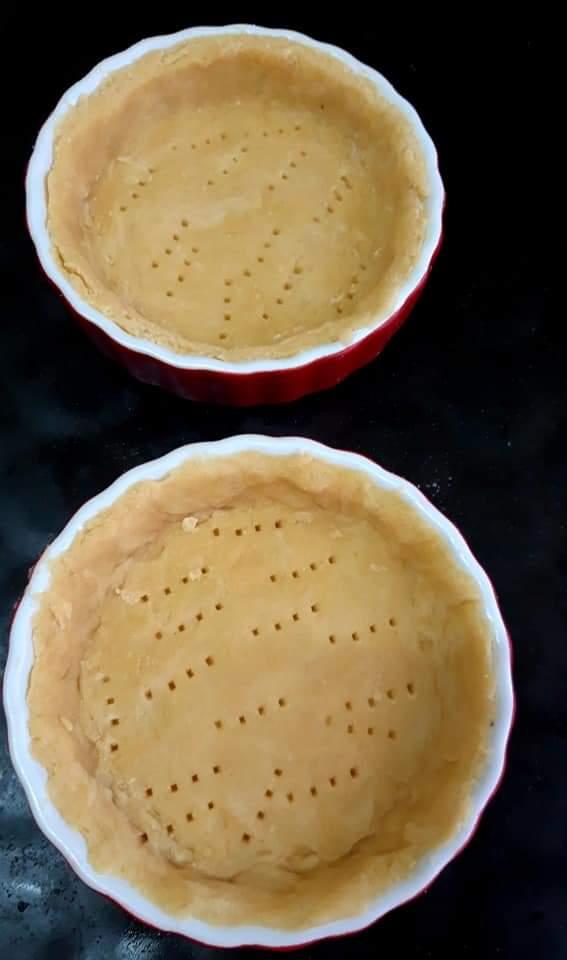 Crusta pentru Tarta cu somon și spanac